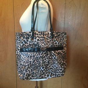 Nine West large cheetah print tote-laptop bag